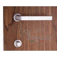 """Дверная ручка Venezia Unique """"EASY"""" (серия SLIM) матовый хром"""