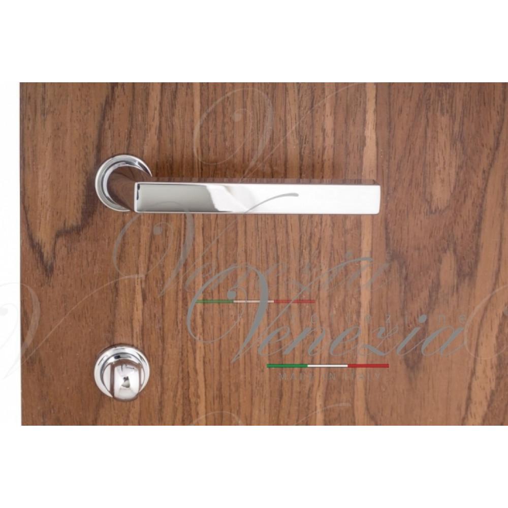 """Дверная ручка Venezia Unique """"EASY"""" (серия SLIM) полированный хром"""